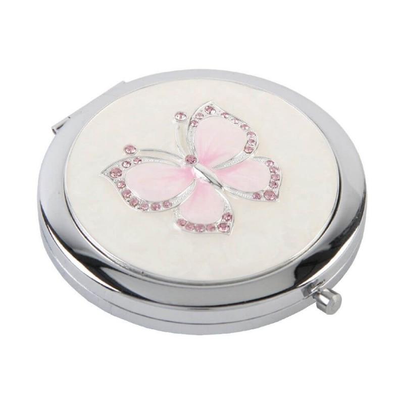Oglinda argintata cu pietricele - model fluture krbaby.ro