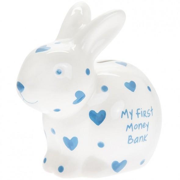 Pusculita iepuras bleu My First Money Bank