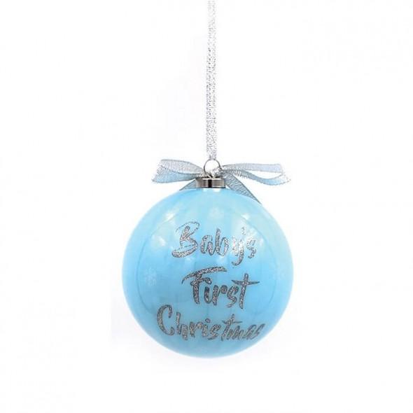Glob bleu din polifoam 1st Xmas