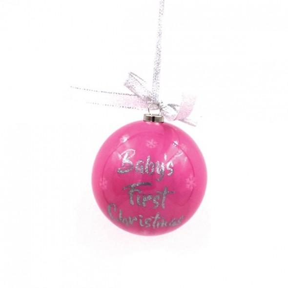 Glob roz din polifoam 1st Xmas