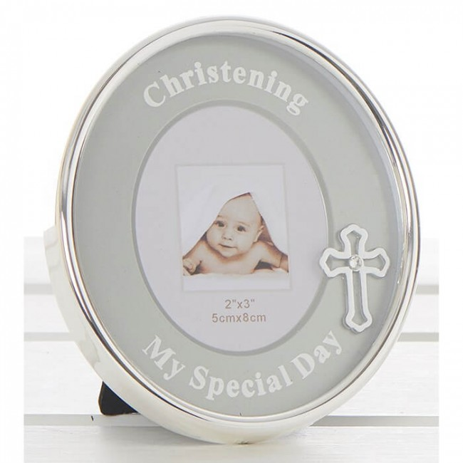 Rama foto argintata Christening Special Day