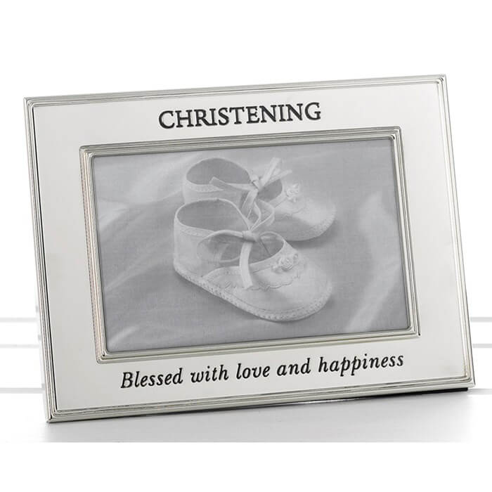 Rama foto botez cu margini argintate