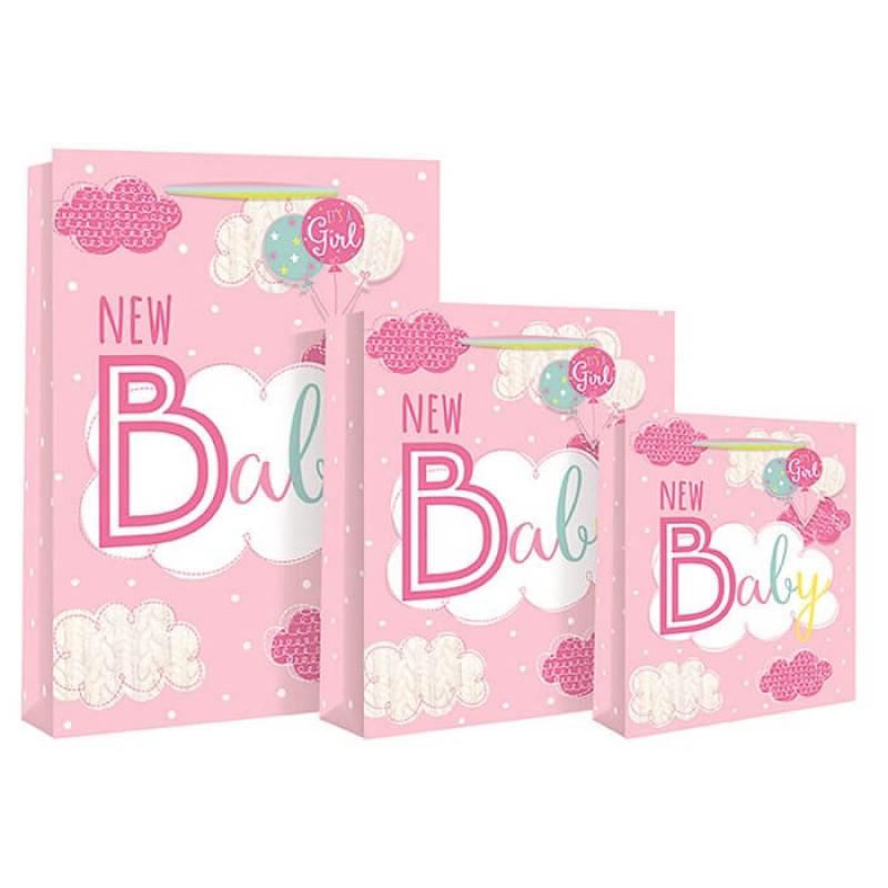 Punga mare roz New Baby krbaby.ro