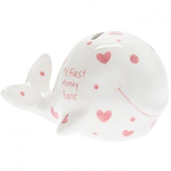 Pusculita balena roz My First Money Bank