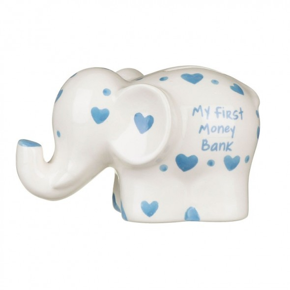 Pusculita elefant bleu My First Money Bank