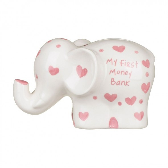 Pusculita elefant roz My First Money Bank