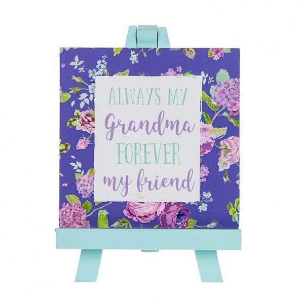 Placuta din lemn cu mesaj cadou pentru bunica