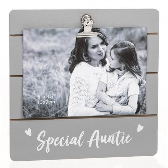 Rama foto cu clips cadou pentru matusa