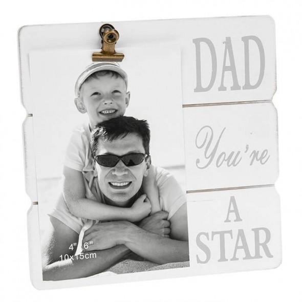 Rama foto cu clips cadou pentru tata