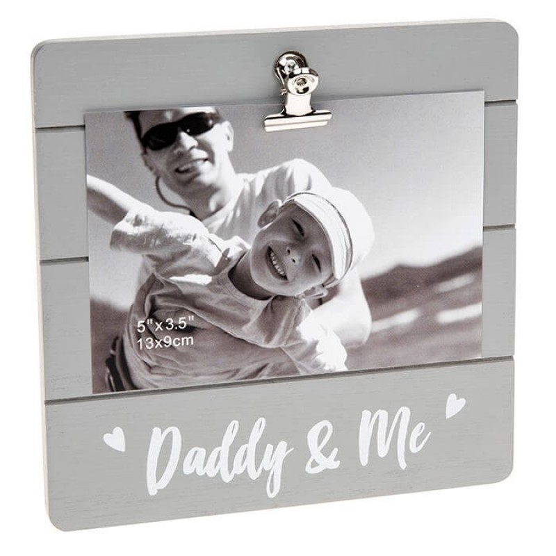 Rama foto cu clips cadou tata si bebe krbaby.ro