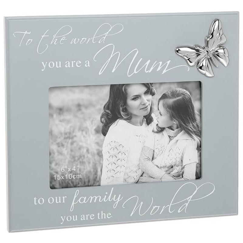 Rama foto cu fluture cadou mama krbaby.ro