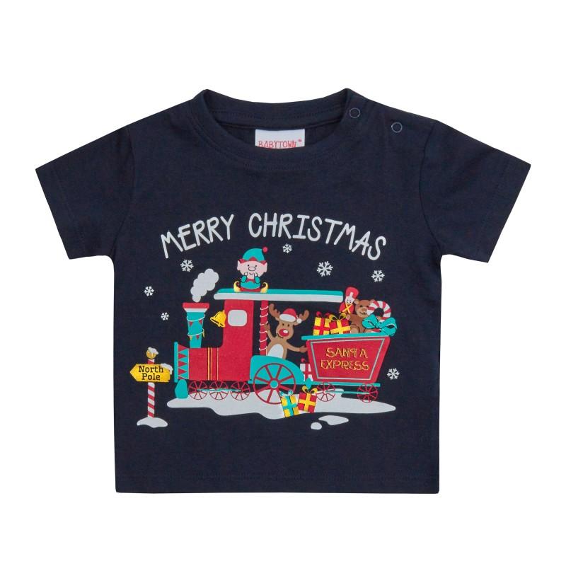 Tricou pentru Craciun - model Merry Christmas krbaby.ro