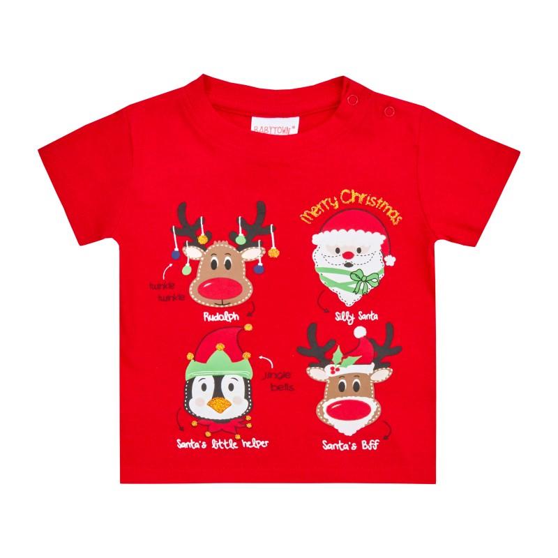 Tricou pentru Craciun - model Rudolph krbaby.ro
