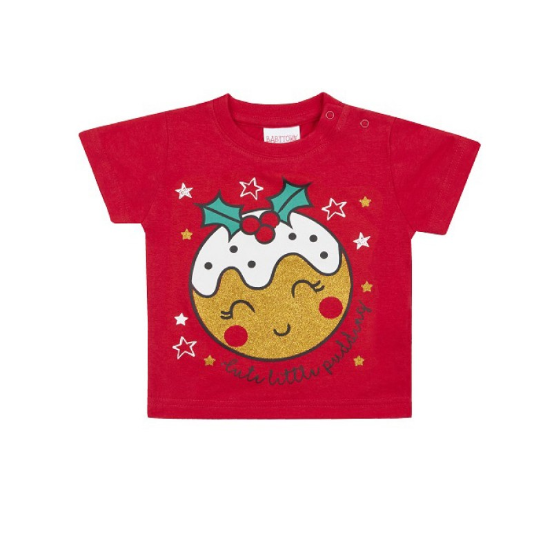 Tricou Craciun pentru bebelusi Cute Pudding krbaby.ro