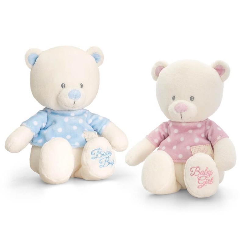Keel Toys - Ursulet din plus cu tricou krbaby.ro