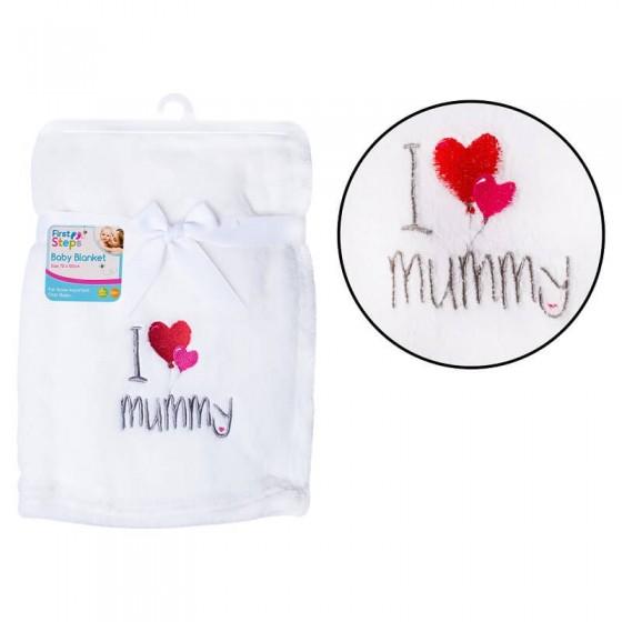 Paturica moale I love mummy