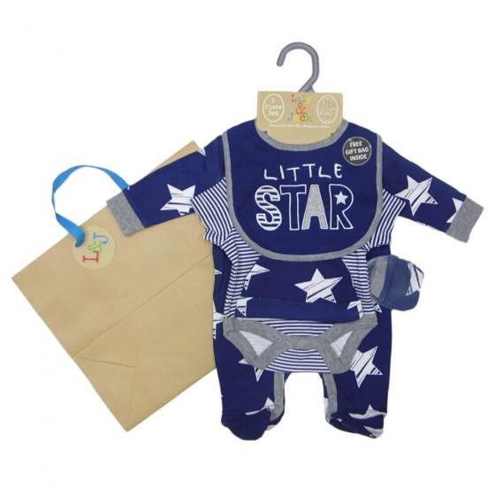 Set cadou hainute 5 piese Little Star si punga cadou