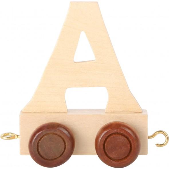 Trenulet din litere de lemn