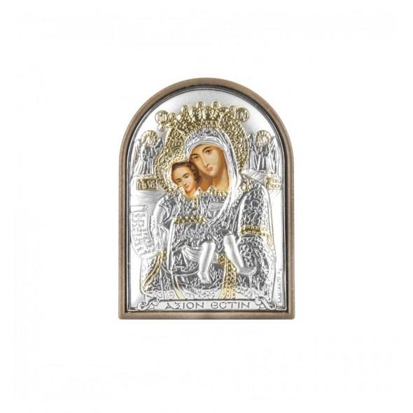 Icoana argintata botez Fecioara Maria si Pruncul