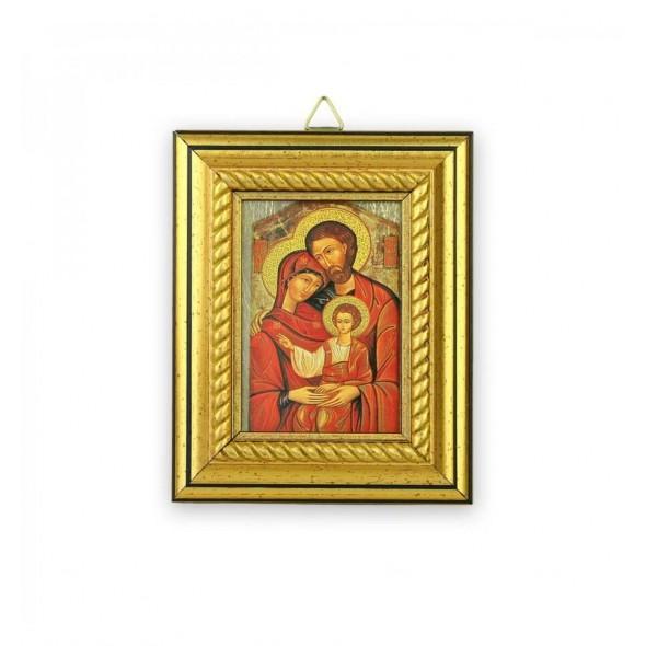 Icoana pentru botez pe foita de aur Sfanta Familie