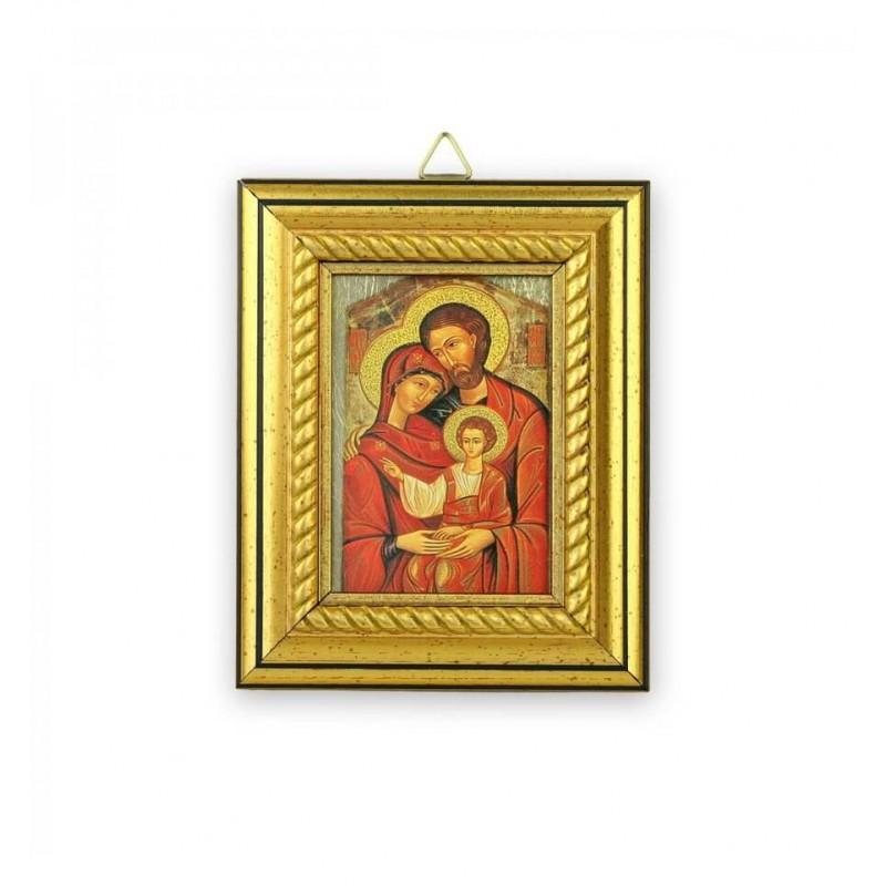Icoana pentru botez pe foita de aur Sfanta Familie krbaby.ro