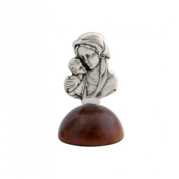 Marturie botez statueta argintata Fecioara Maria cu Pruncul