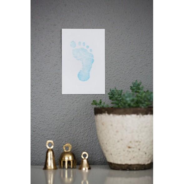 Pearhead - Kit amprenta cu cerneala pentru piciorus - bleu krbaby.ro