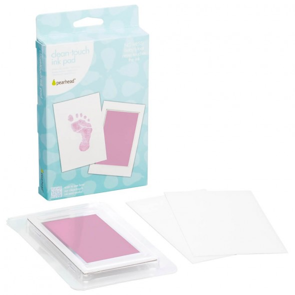 Pearhead - Kit amprenta cu cerneala pentru piciorus - roz krbaby.ro