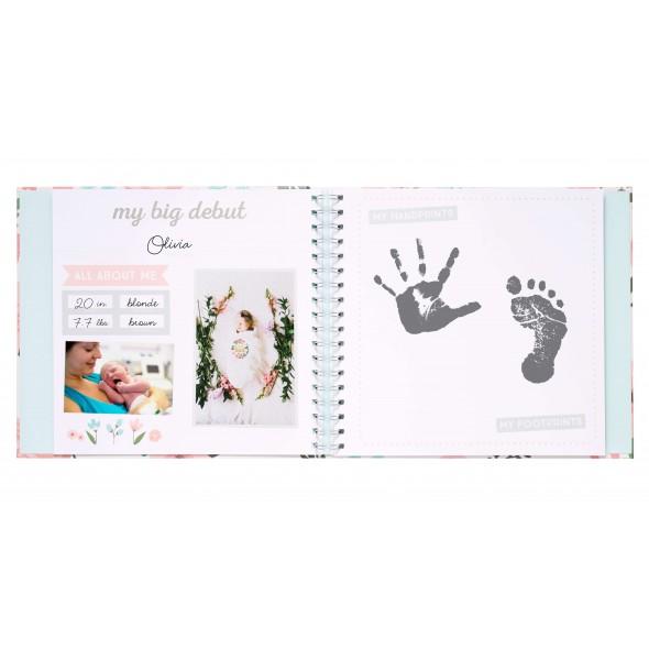 Pearhead - Set cadou caietul bebelusului model floral