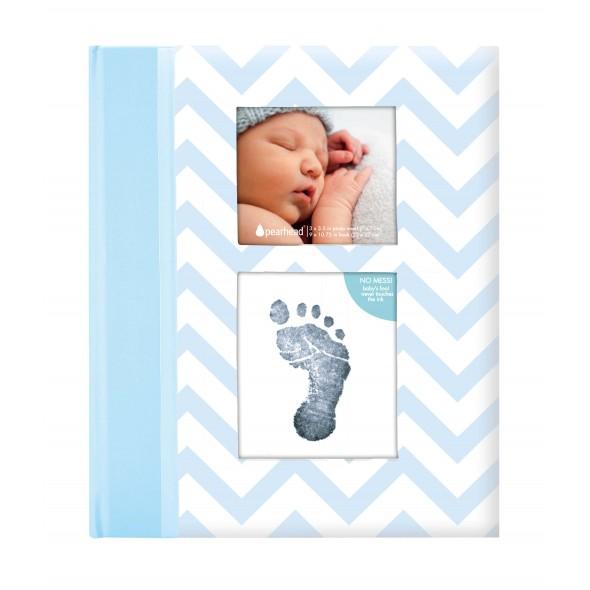Pearhead - Caietul bebelusului cu amprenta cerneala blue