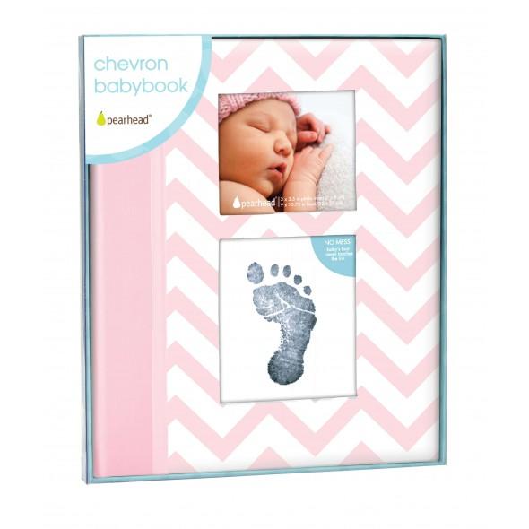 Pearhead - Caietul bebelusului cu amprenta cerneala pink