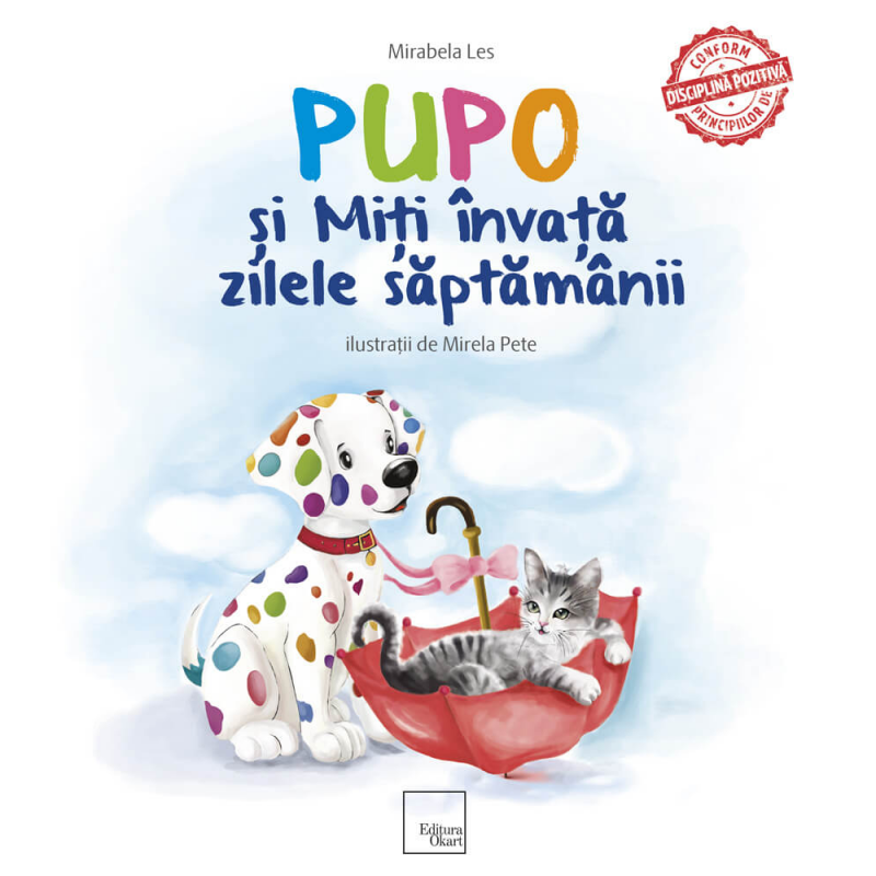 Carte de povesti Pupo si Miti invata zilele saptamanii