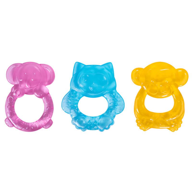 First Steps - Inel pentru dentitie cu gel - model animalute krbaby.ro