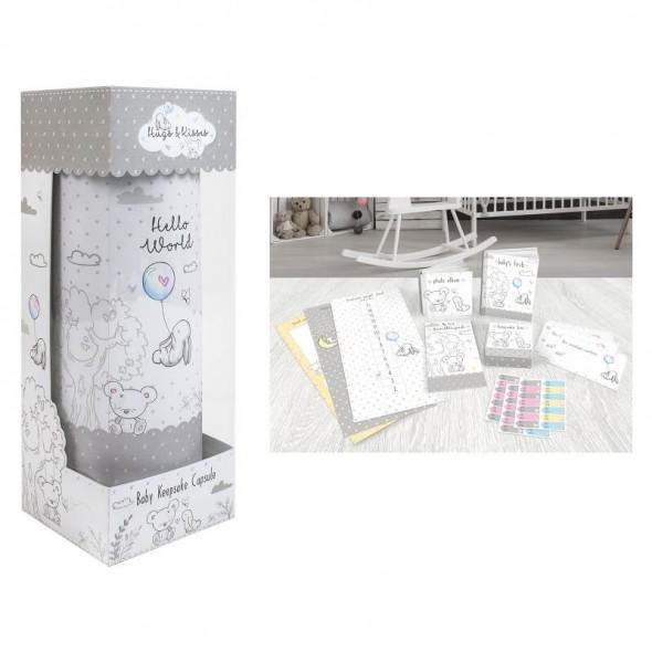 Hugs and Kisses - Set cadou pentru nastere