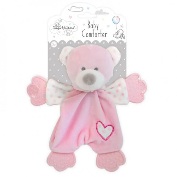 Hugs and Kisses - Ursulet roz cu jucarii dentitie