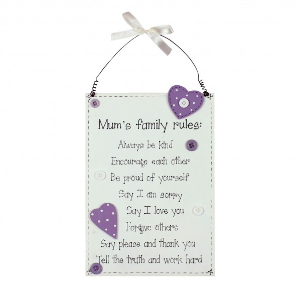Placuta Mum's family rules