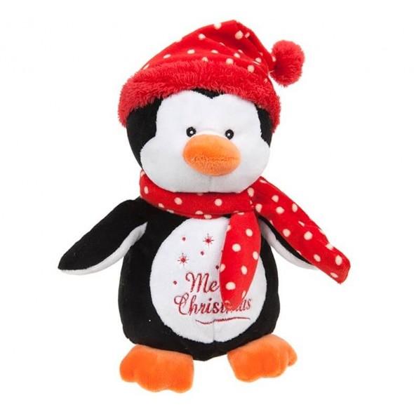 Pinguin de plus cu mesajul Merry Christmas