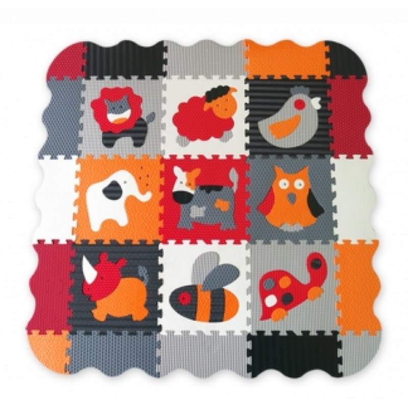 Babygreat - Covoras Puzzle mare Animalutele Fericite krbaby.ro