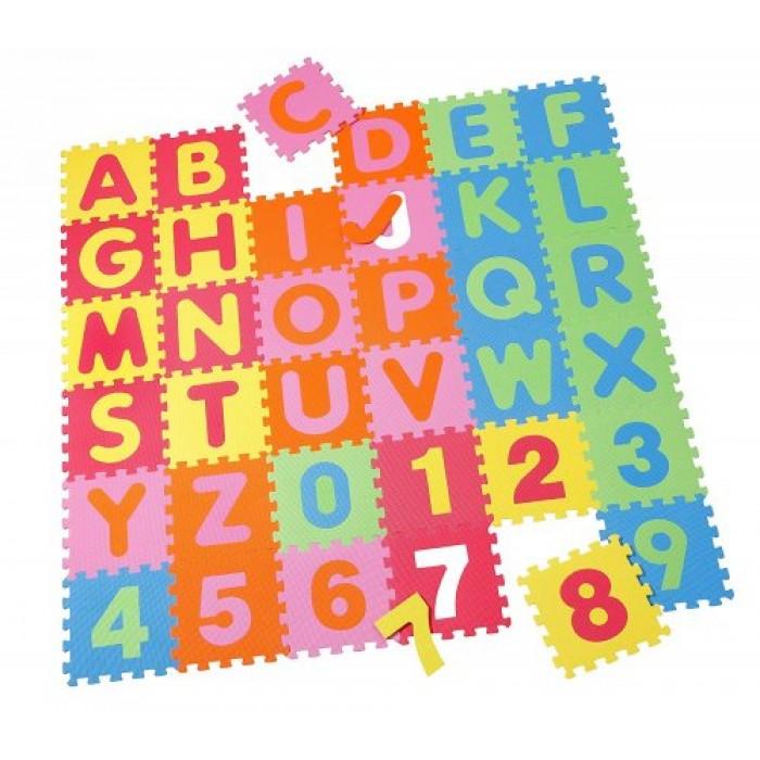 Covoras Puzzle Alfabet Numere 36 piese Knorrtoys