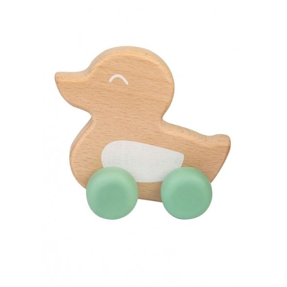 Jucarie naturala dentitie Ducky Teether Mint Saro Baby