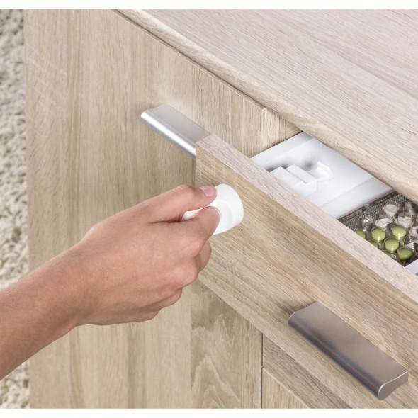 Pachet economic 4 incuietori magnetice pentru sertare si usi de dulapuri Reer