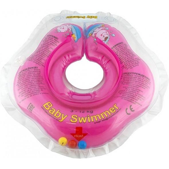 Babyswimmer - Colac roz cu zornaitoare 0-24 luni
