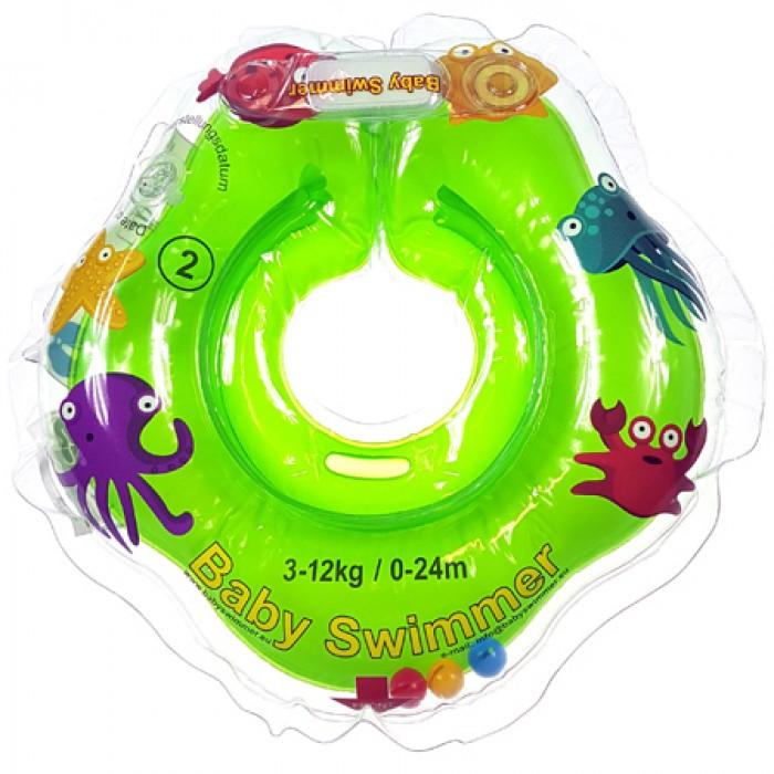 Babyswimmer - Colac verde cu zornaitoare 0-24 luni