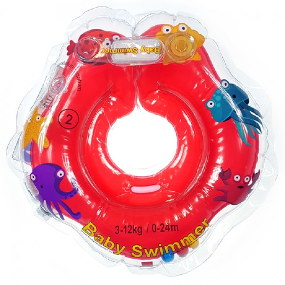 Babyswimmer - Colac rosu cu zornaitoare 0-24 luni