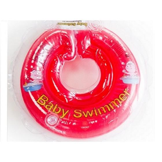 Babyswimmer - Colac rosu jumatate transparent 6-36 luni