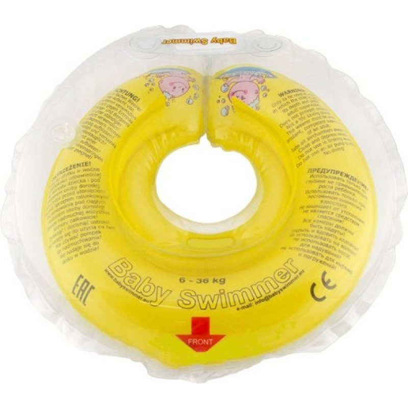 Babyswimmer - Colac galben jumatate transparent 6-36 luni krbaby.ro