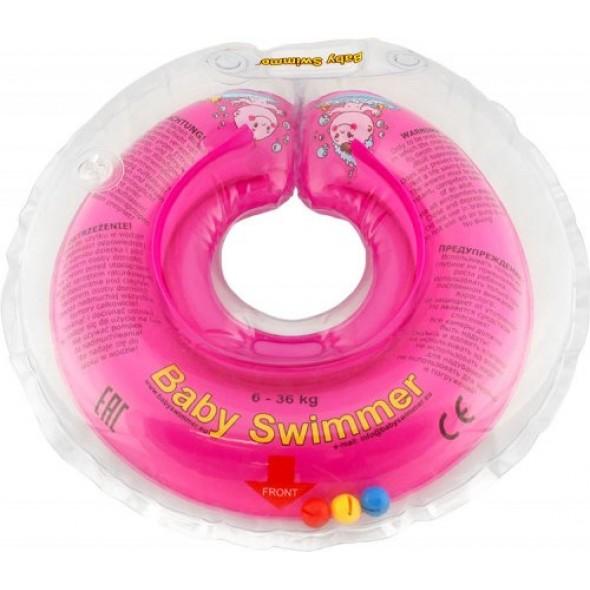 BabySwimmer - Colac roz cu zornaitoare 6-36 luni