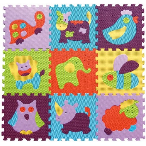 Babygreat - Covoras Puzzle Animalute Vesele