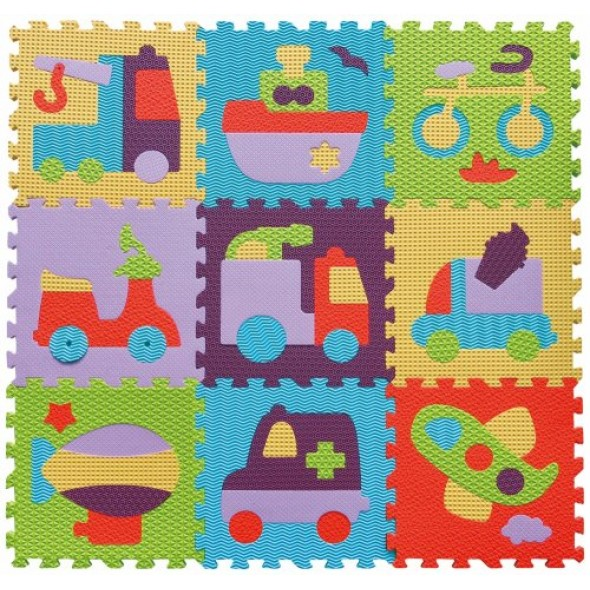 Babygreat - Covoras Puzzle Transport