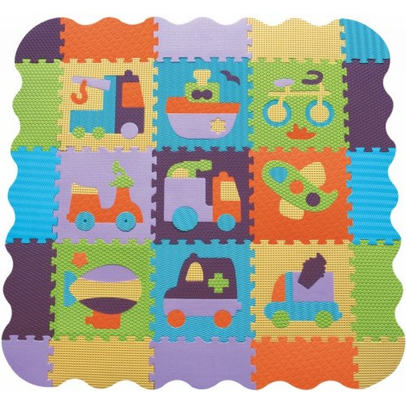 Babygreat - Covoras Puzzle mare Transport krbaby.ro
